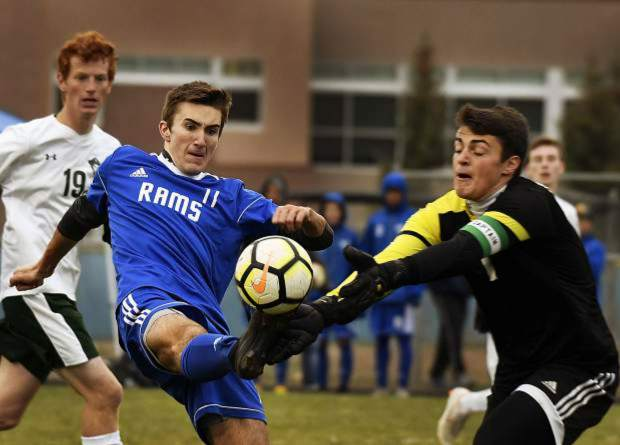 Former Roaring Fork Rams standout Aidan Sloan plays the ball against St. Mary's last fall in the Rams' first-round win over the Pirates, sparking a run that reached the 3A state semifinals.