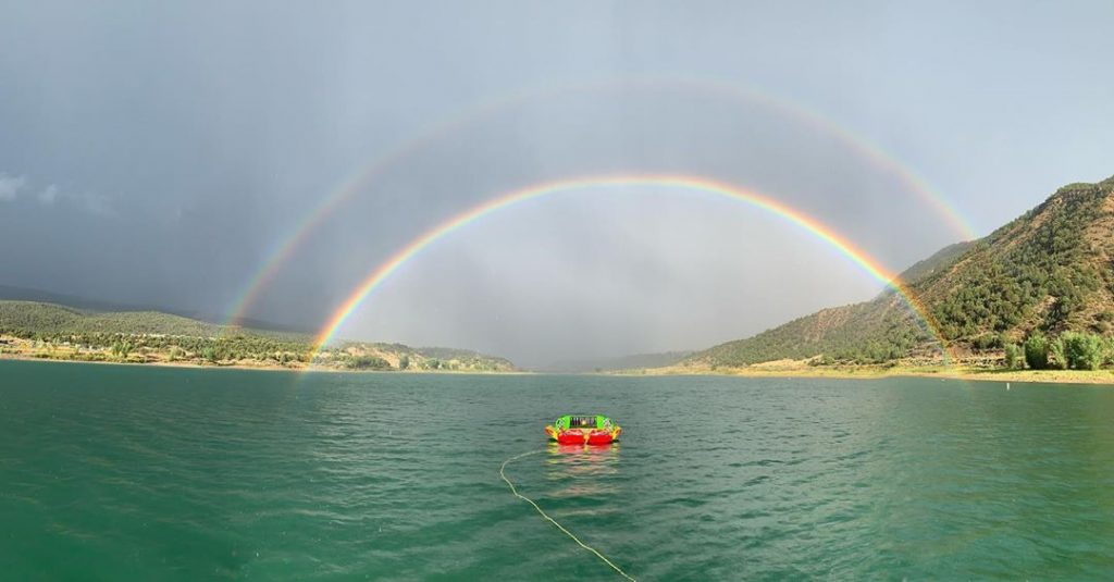 Tubin' Through Rainbows at Rifle Gap.