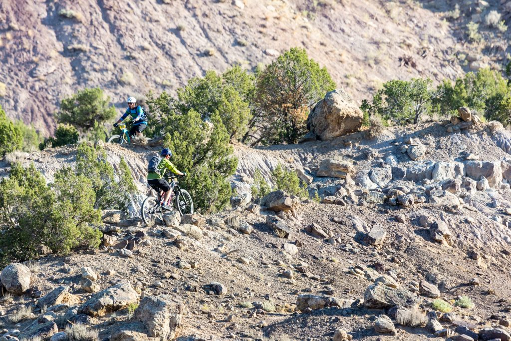 Competitors make their way through the rocky terrain of Hubbard Mesa during last year's Roan Cliff Chaos mountain bike race organized by RAMBO.