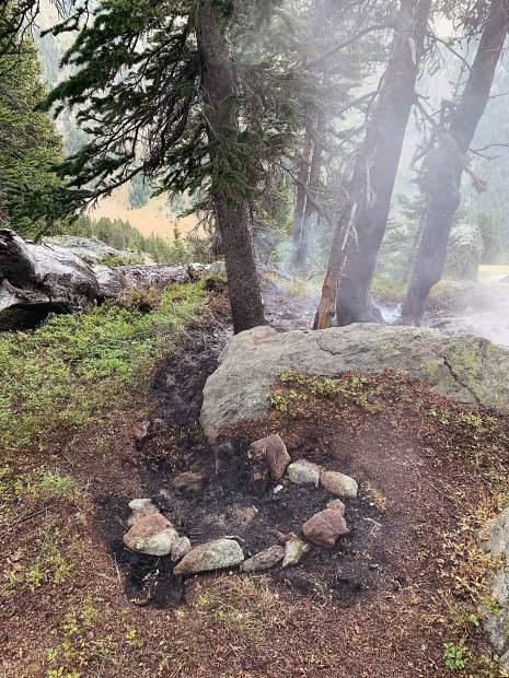 A small wildfire escaped and spread this unattended campfire above Lost Man Reservoir east of Aspen last weekend. Forest rangers say it demonstrates how dry conditions are in the White River National Forest.