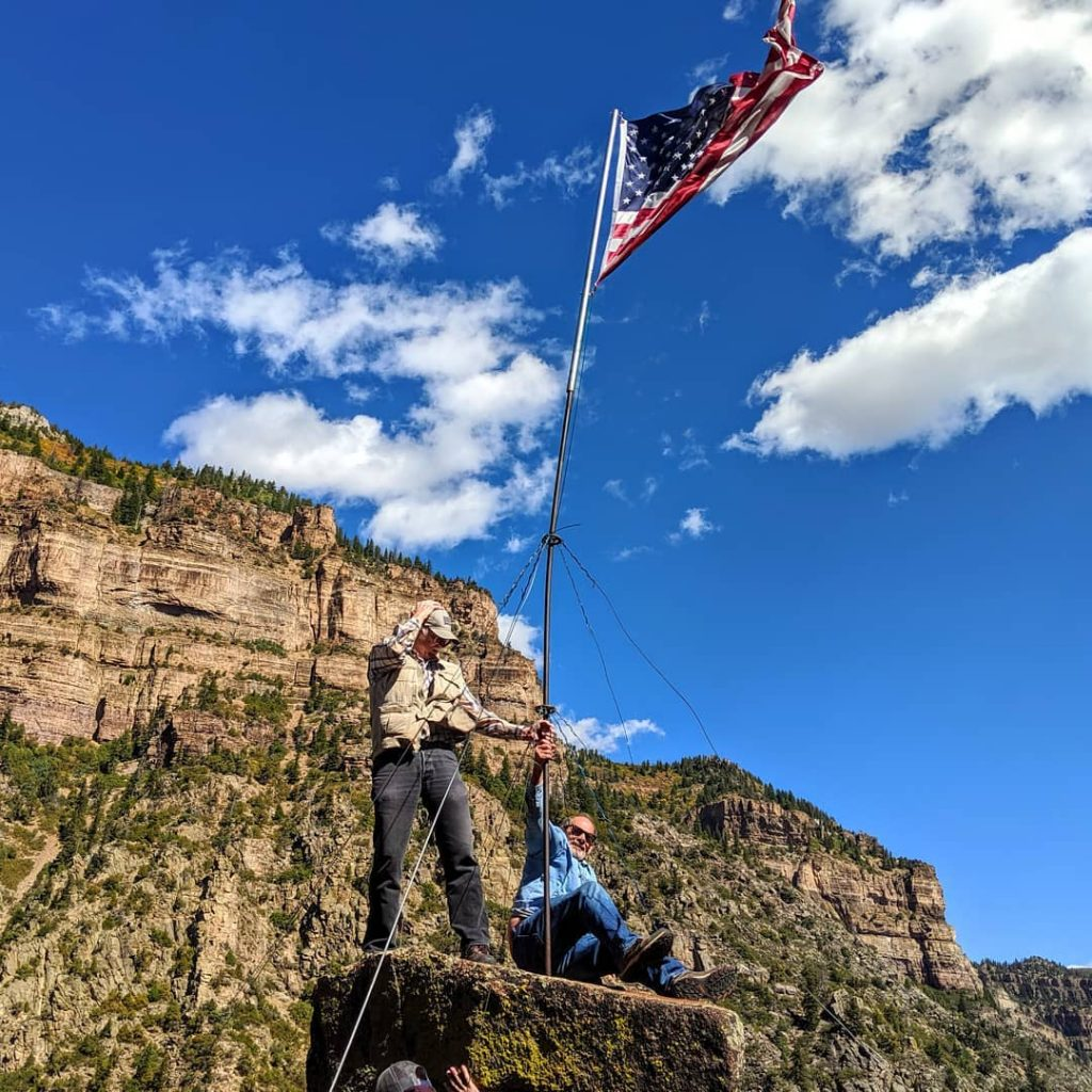 Windy day in Glenwood Canyon, hold on to your hat!