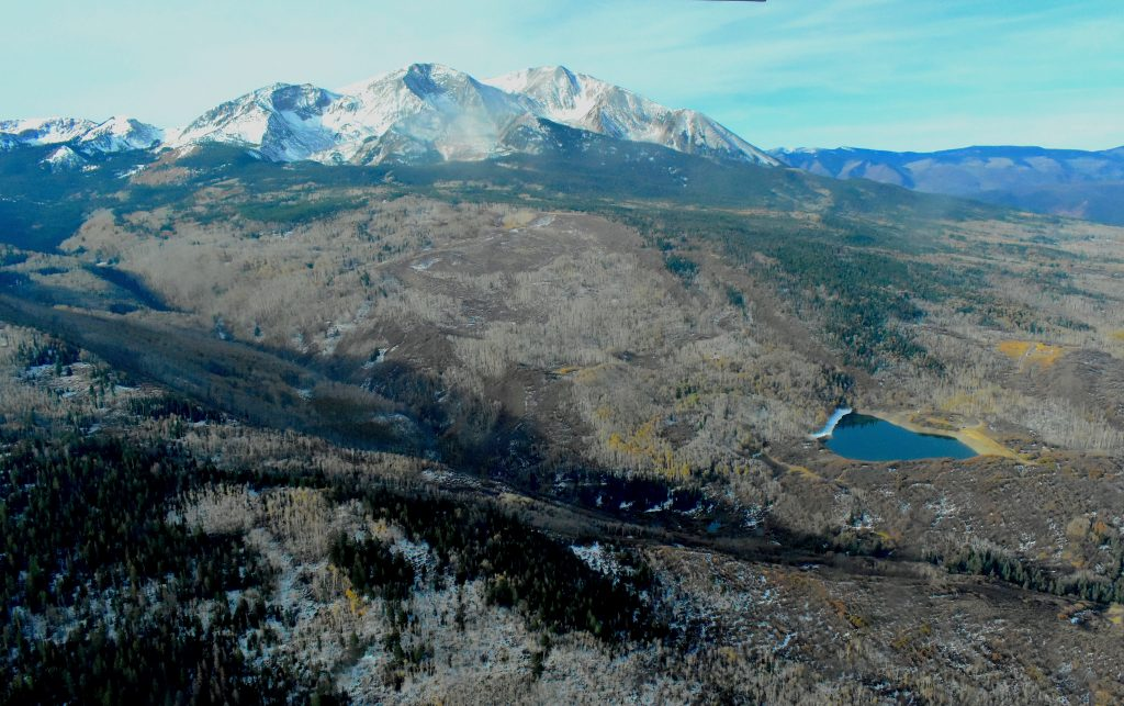 Basalt High School students got a close-up look at Mount Sopris and Dinkle Lake from above during an EcoFlight trip Wednesday, Oct. 16.