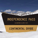 Independence Pass with snow