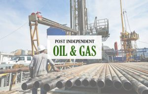 Post Independent oil and gas graphic
