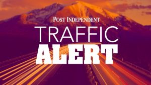 Post Independent traffic alert news graphic