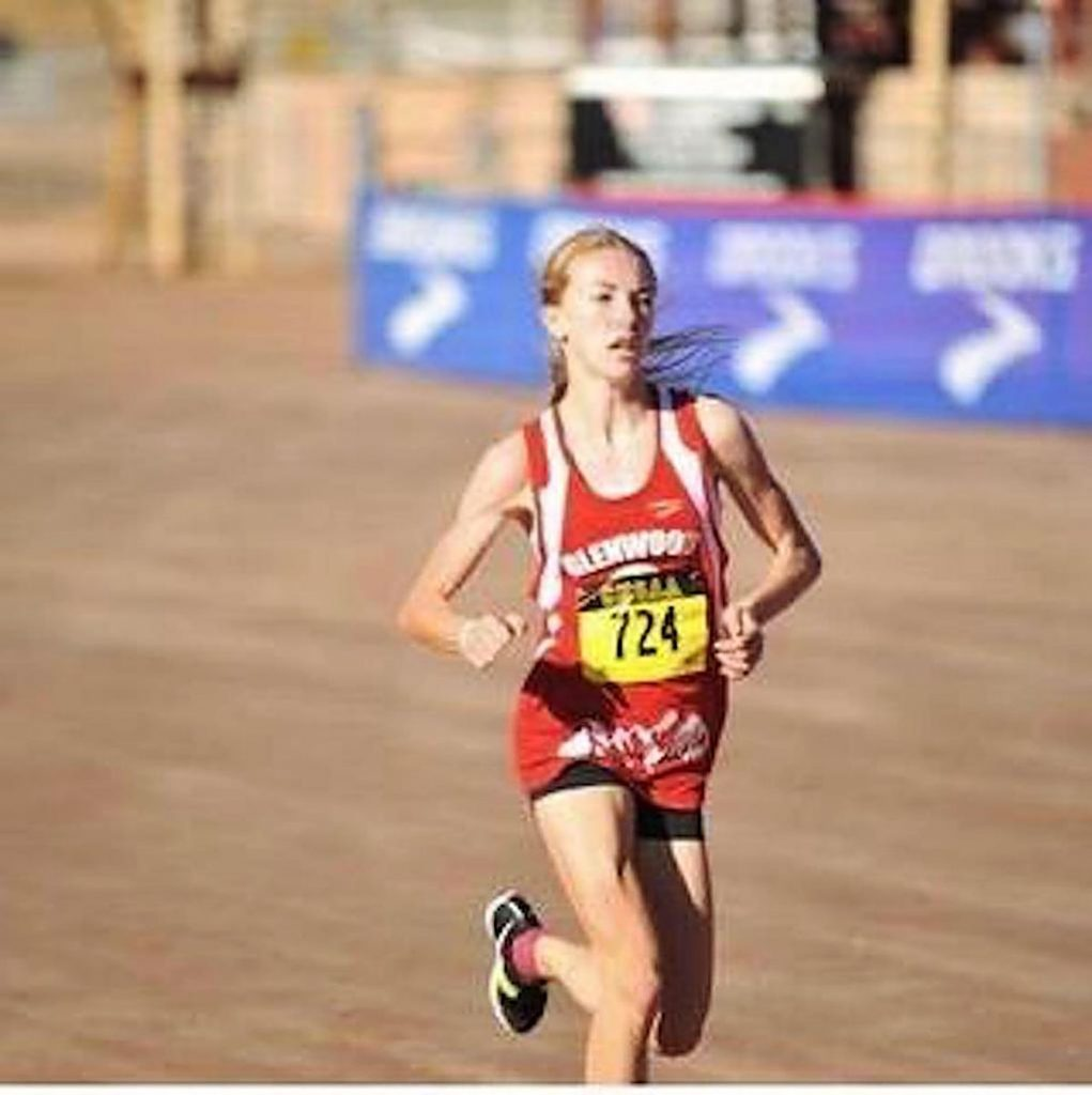 Glenwood Springs sophomore Ella Johnson cruises toward a fifth-place finish in the state 4A girls cross country championships Saturday at the Norris Penrose Event Center in Colorado Springs.