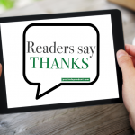 Post Independent readers say thanks graphic