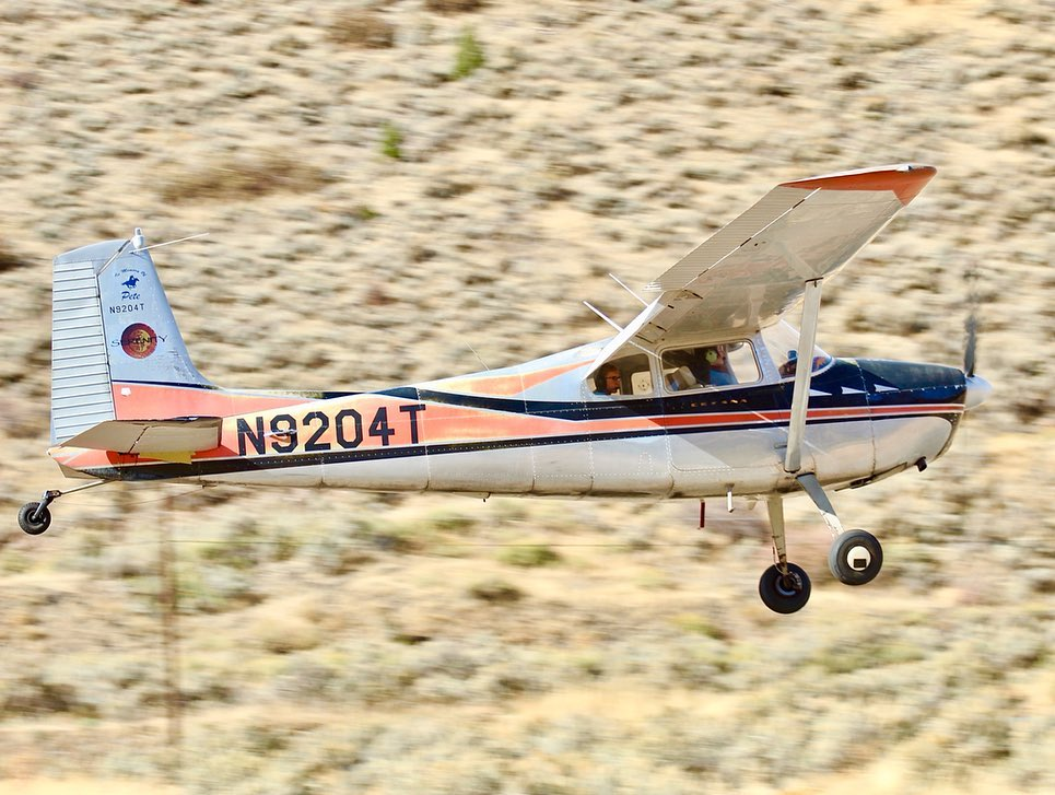 A powerful 1960 Cessna 180C last month at the Glenwood Springs Municipal Airport.