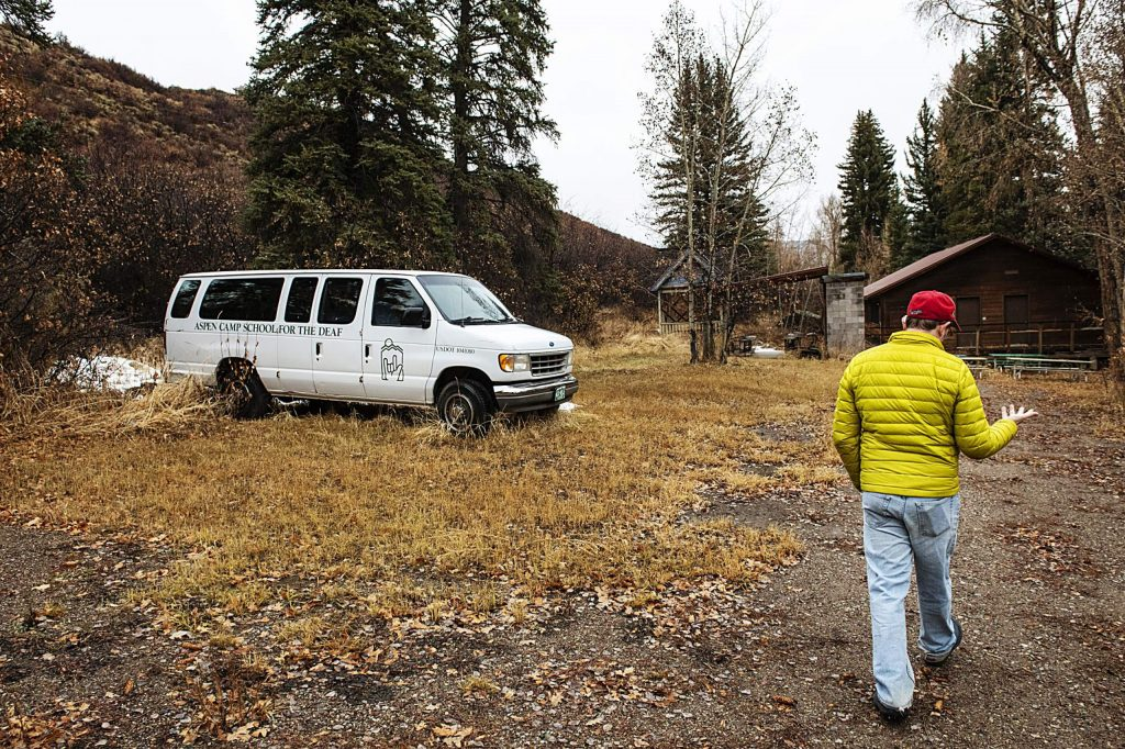 Eric Kaika walks on the Aspen Camp property in Old Snowmass on Thursday, Nov. 21, 2019. (Kelsey Brunner/The Aspen Times)