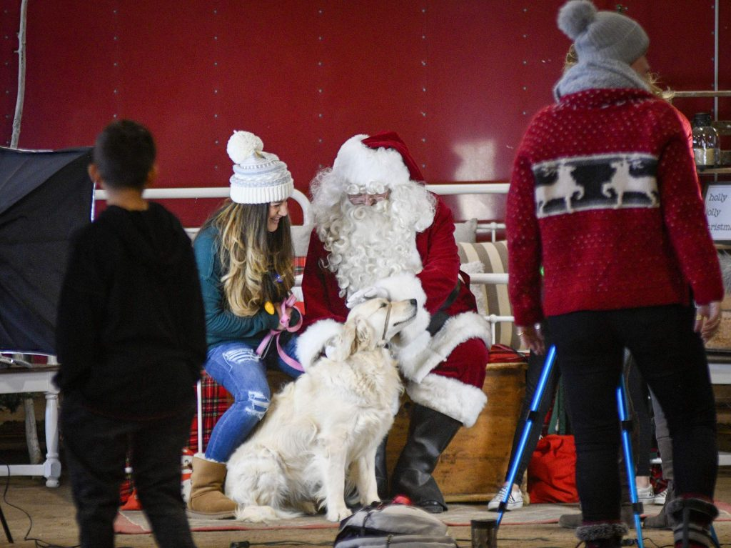 People weren't the only ones to enjoy time with Santa, as pets got into the Christmas Spirit with a photo session at the Grafield County Fairgrounds.