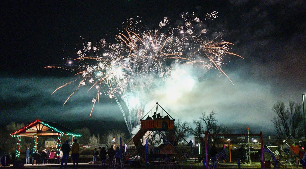Fireworks light up Centennial Park during this years Hometown Holdiay celebration in Rifle.