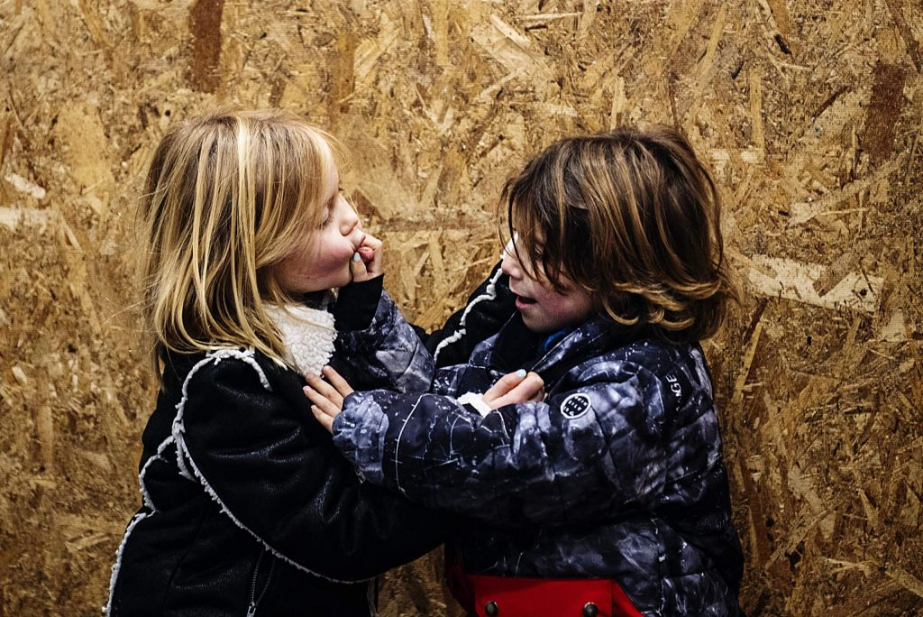 Meadow Anne Franklin Dakides Zamansky, 6, left, and her brother Bowie Alan Dakides Zamansky, 4, play in the corner of the room on their property in Carbondale on Sunday, December 15, 2019. Their mother, Tara Dakides, said that on the way to the property Bowie told her that he wanted to find one of Meadow's stuffed animals in the fire rubble so that he could give it to her. Meadow expressed that she would have been very sad if they had lost someone in the fire, but all they had lost was stuff and that was replaceable.