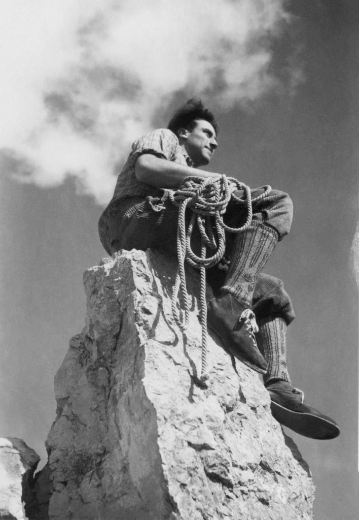 Klaus Obermeyer after a climb in the 1940s.