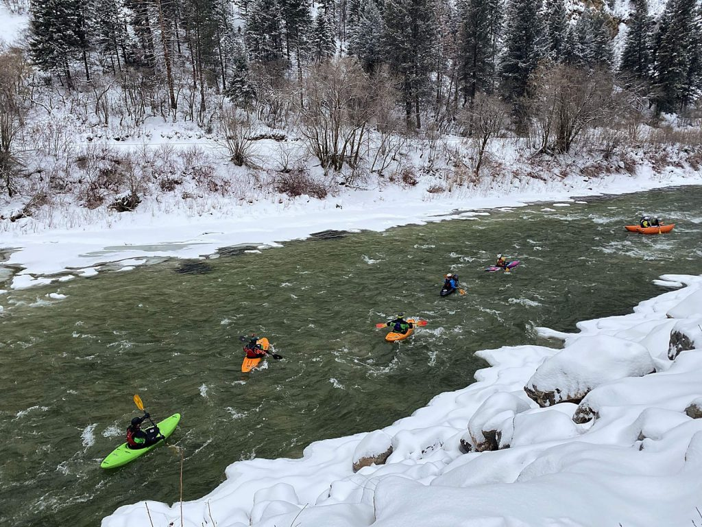 Kayaks are still the preferred method of navigating the icy water in Glenwood Canyon, but in recent years all manner of whitewater vessels have completed the annual New Year's Day run.
