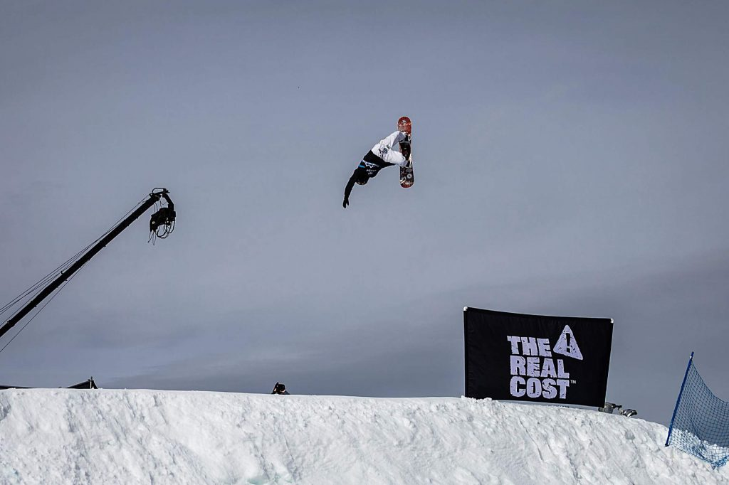 Torgeir Bergrem competes in men's snowboard big air elimination round at X Games Aspen on Friday, Jan. 24, 2020, at Buttermilk Ski Area in Aspen Snowmass, Colo. (Liz Copan/Summit Daily News via AP)