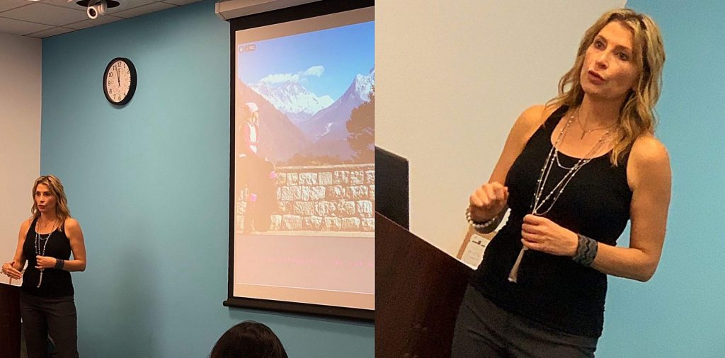Meghan Buchanan founded GGRIT, giving motivational talks to help people overcome obstacles.