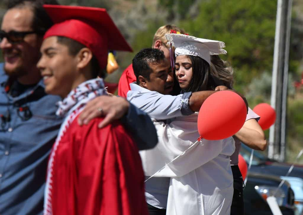 Images from the 2020 Glenwood Springs High School drive-in graduation ceremony held at the Glenwood Springs Municipal Airport on Saturday morning.