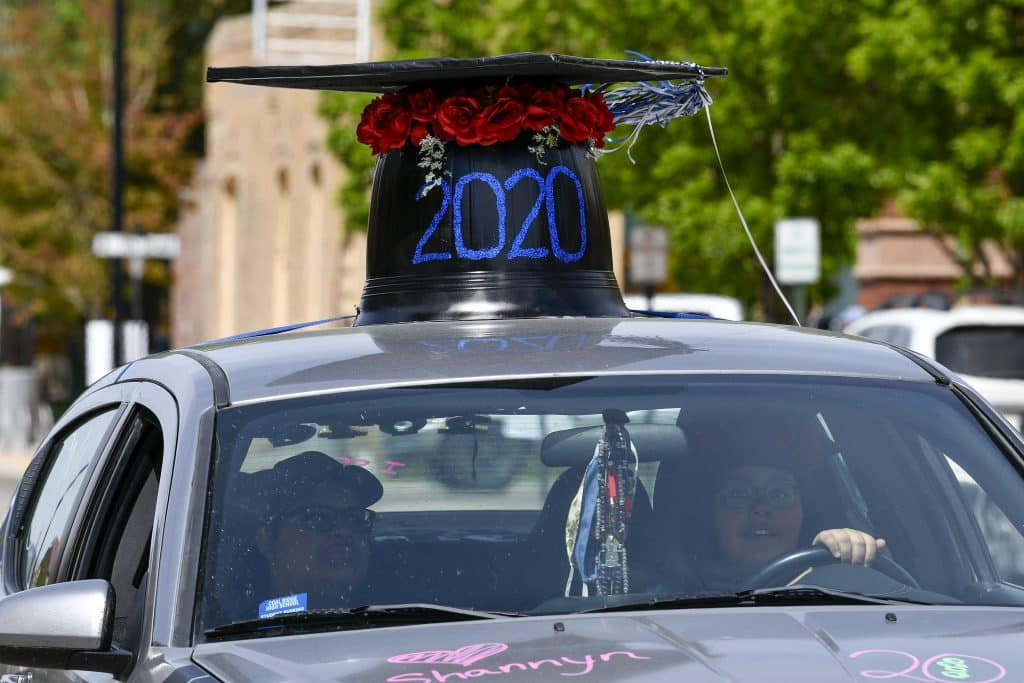 Graduates were ablet o decorate their cars as they paraded through Silt and New Castle in front of friends and family Sunday.