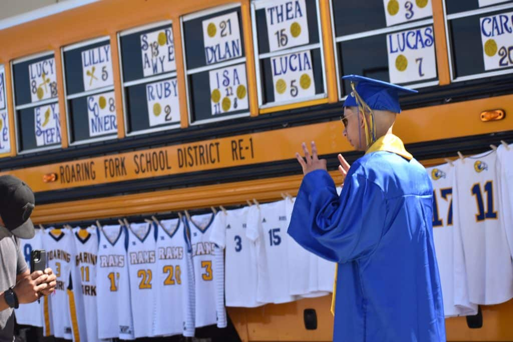 Images from the Roaring Fork High School class of 2020 drive-in graduation in Carbondale Saturday morning.
