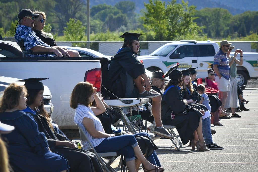 Coal Ridge High School Class of 2020 in-person graduation Saturday, July 18, in New Castle. The Titans held the first of two in-person ceremonies today honoring the senior class that has been affected by the pandemic.