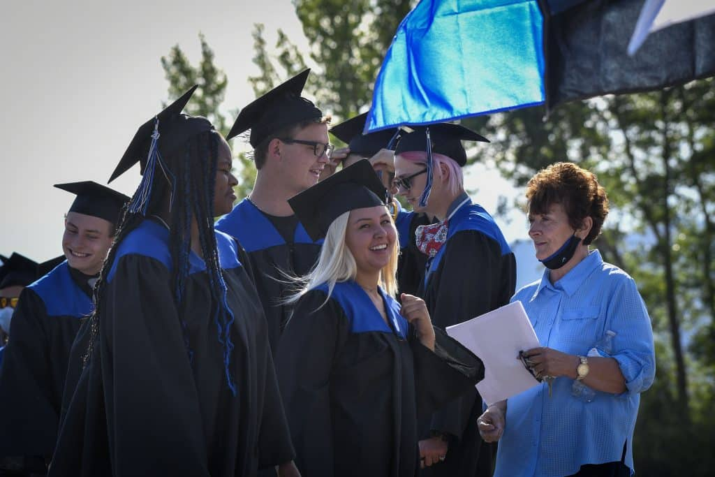 Coal Ridge High School Class of 2020 in-person graduation Sunday, July 19, in New Castle. The Titans held the second in-person ceremony today honoring the senior class that has been affected by the pandemic.