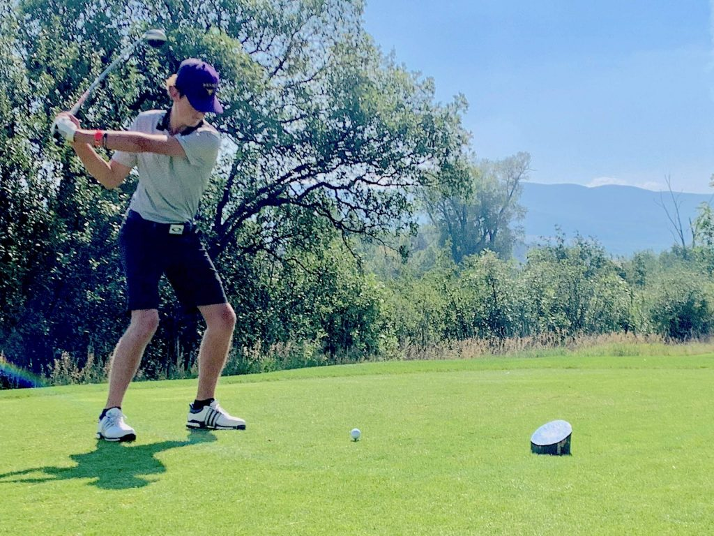 Basalt High School's Tyler Sims competes on Tuesday, Aug. 18, 2020, at River Valley Ranch near in Carbondale.
