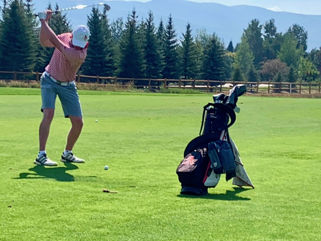 Aspen High School's Jake Doyle competes on Tuesday, Aug. 18, 2020, at River Valley Ranch near in Carbondale.