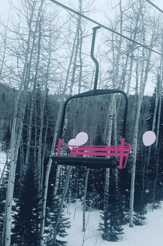 Former Mini-Mayor Colby Rogers rides her pink chairlift at Sunlight Mountain Resort. Mini-Mayor candidates are encouraged to come up with ideas for how, if elected, they'd improve the experience at Sunlight.