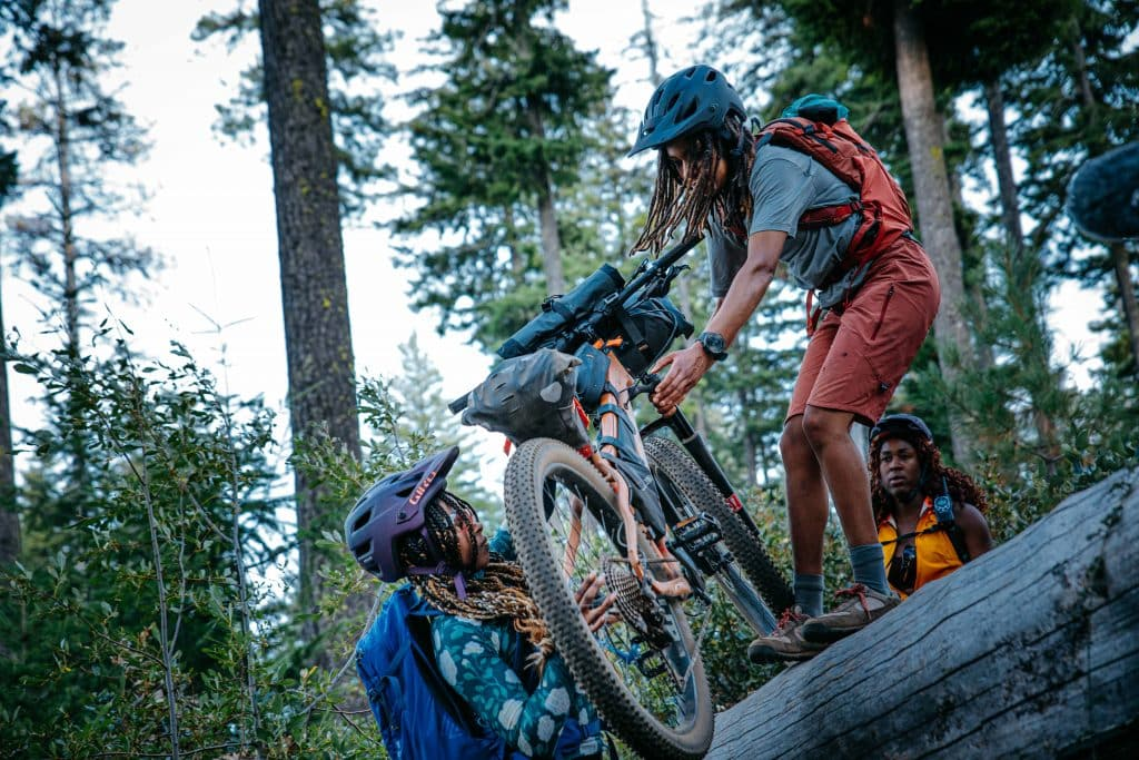 """Pedal Through,"" a film about three young black women taking on a week-long bike packing adventure full of joy, healing, and mentorship with mother nature in Oregon's backcountry"