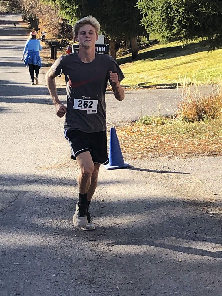 Glenwood Springs High School junior Reid Swanson was the overall winner at Saturday's Kenny Cline Memorial Sequoia Glen 5K in West Glenwood.